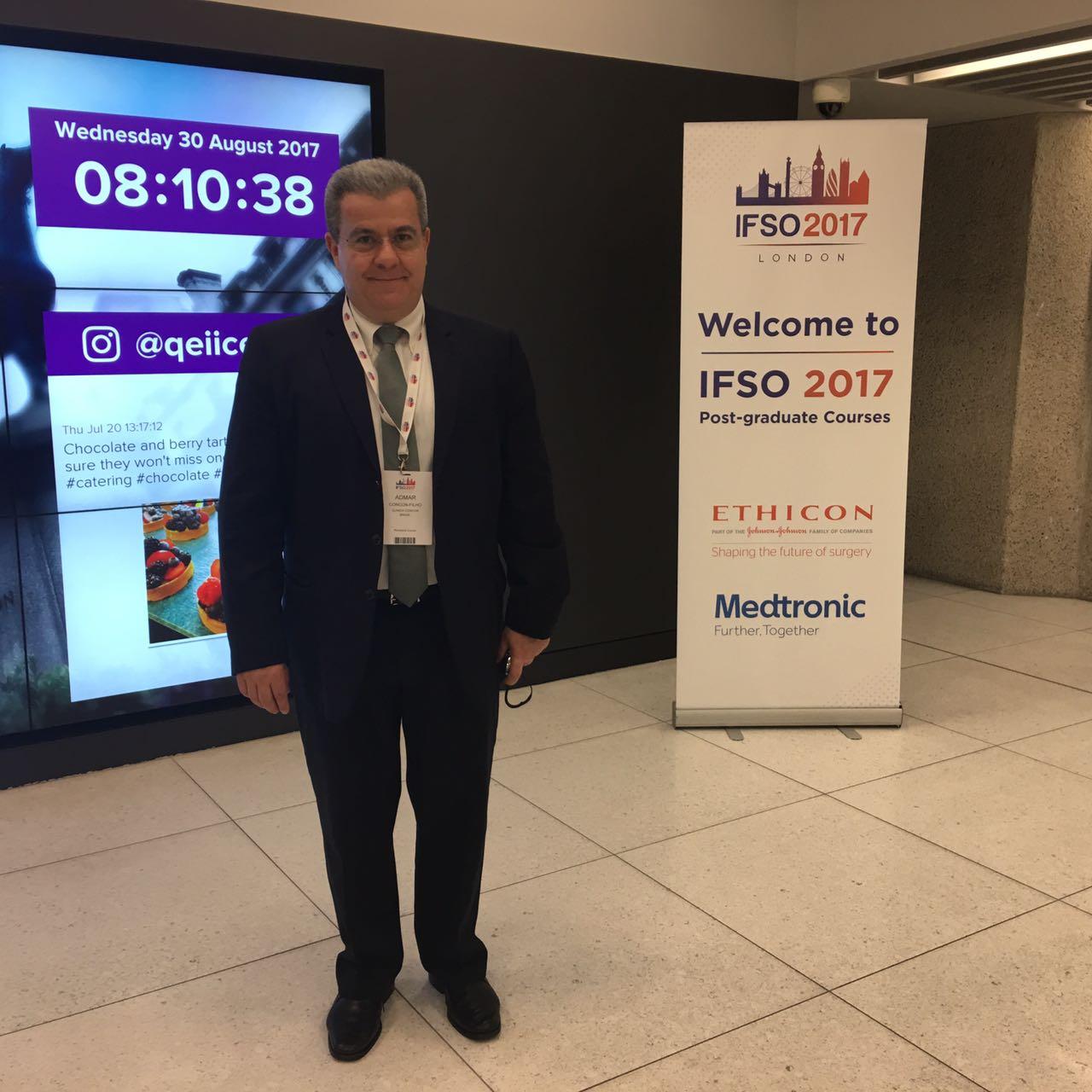 Dr Admar Concon Filho participa do Congresso Internacional IFSO, em Londres
